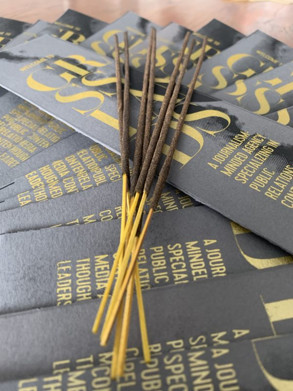 Incense sticks closeup