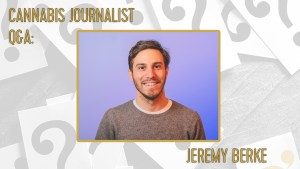 A photo of cannabis journalist jeremy berke