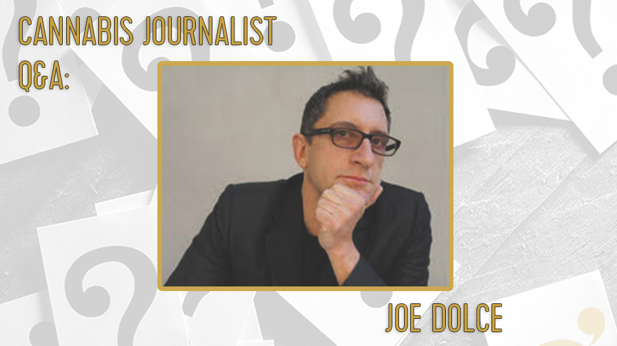 Journalist Joe Dolce posing for the camera