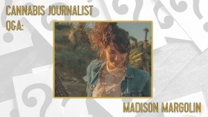 cannabis journalist madison margolin in the desert